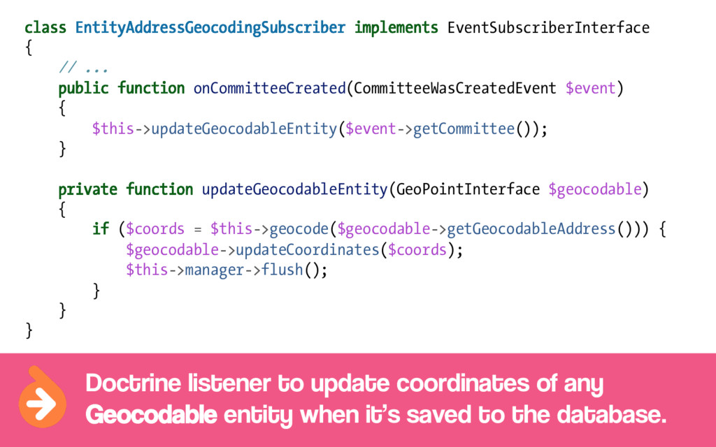 class EntityAddressGeocodingSubscriber implemen...