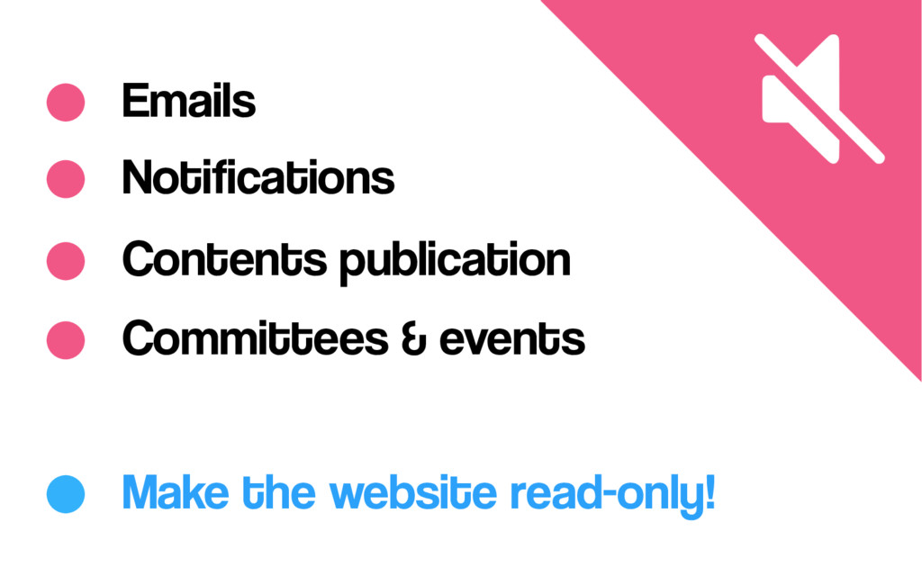 Notifications Committees & events Make the webs...