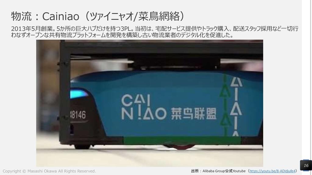 物流:Cainiao(ツァイニャオ/菜鳥網絡) 2013年5月創業。5か所の巨大ハブだけを持つ...
