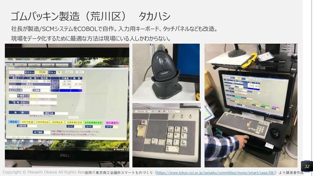ゴムパッキン製造(荒川区) タカハシ 社長が製造/SCMシステムをCOBOLで自作。入力用キー...