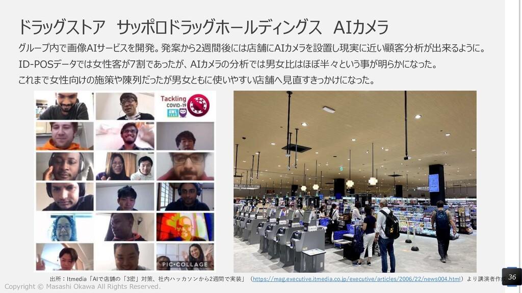 ドラッグストア サッポロドラッグホールディングス AIカメラ グループ内で画像AIサービスを開...