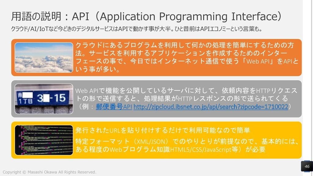 用語の説明:API(Application Programming Interface) クラ...