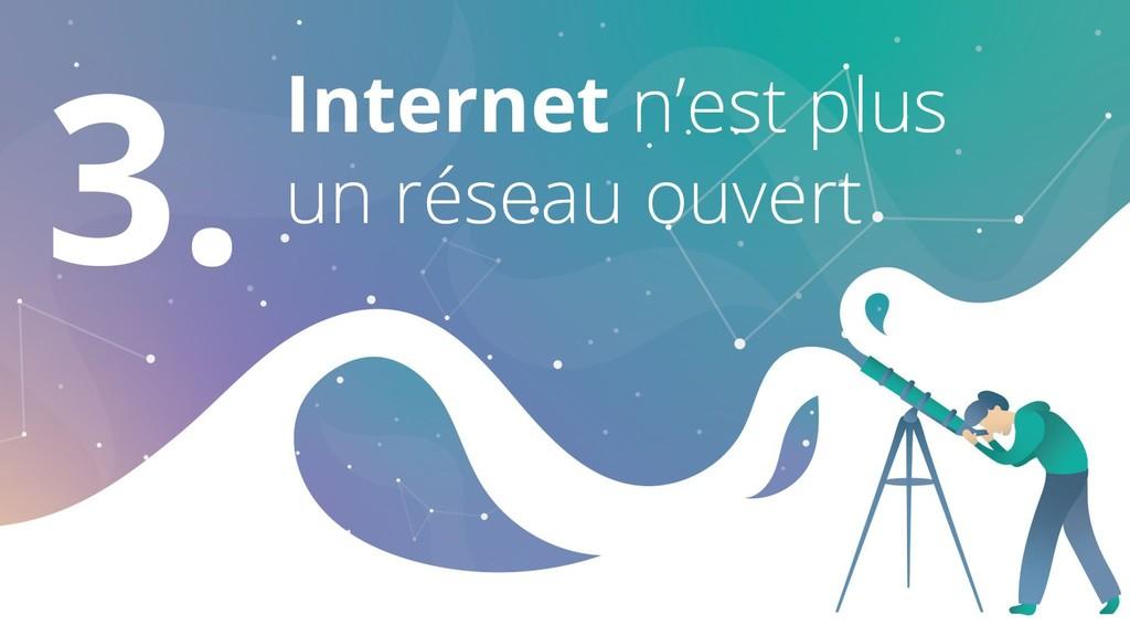 3. Internet n'est plus un réseau ouvert