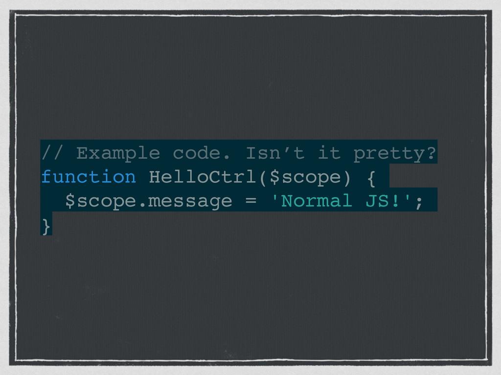 // Example code. Isn't it pretty?! function Hel...
