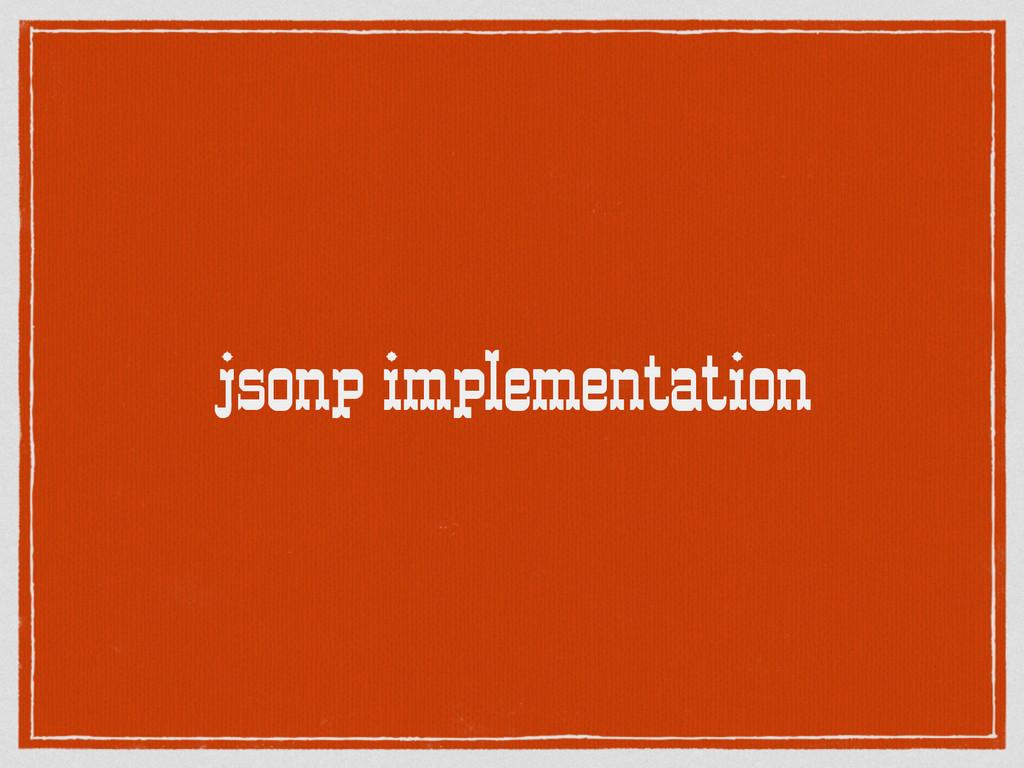 jsonp implementation