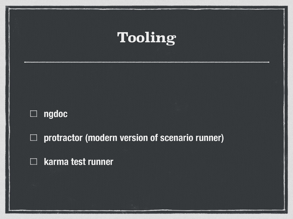 Tooling ngdoc protractor (modern version of sce...