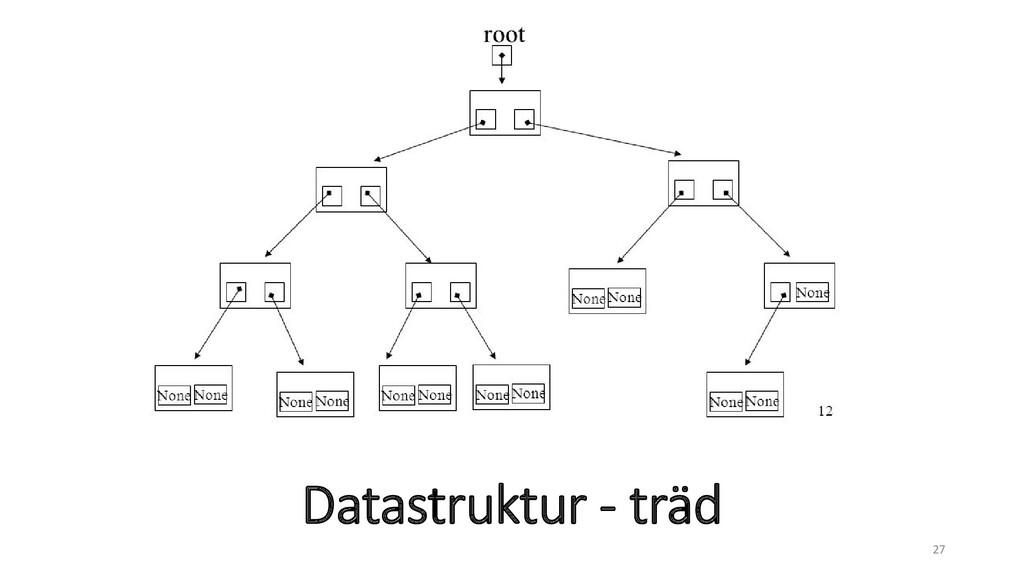 Datastruktur - träd 27