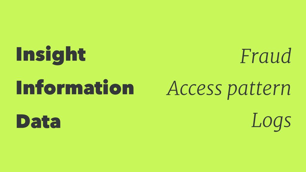 Insight Information Data Fraud Access pattern L...
