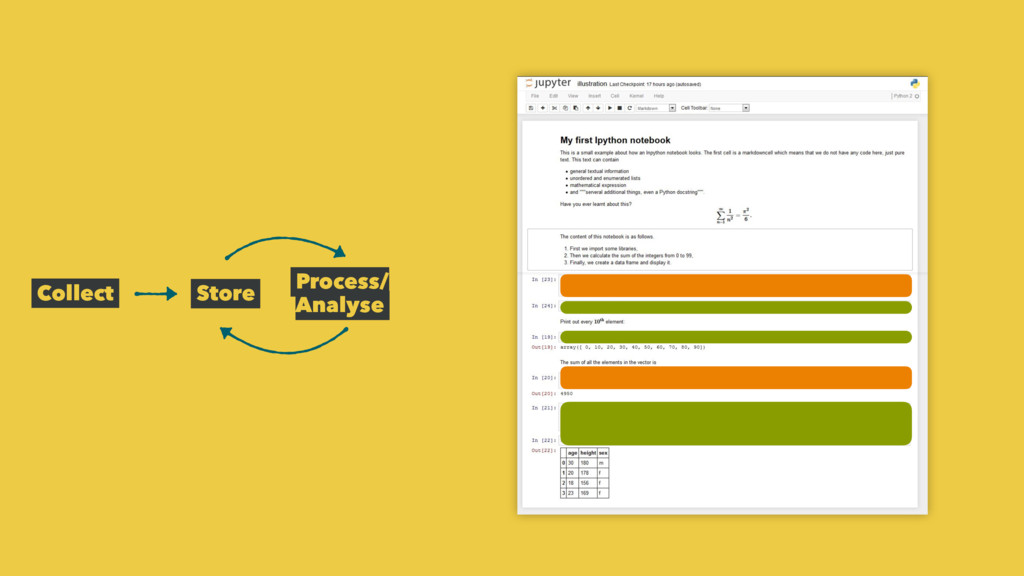 Collect Store Process/ Analyse