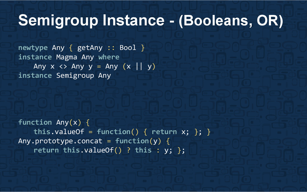 newtype Any { getAny :: Bool } instance Magma A...