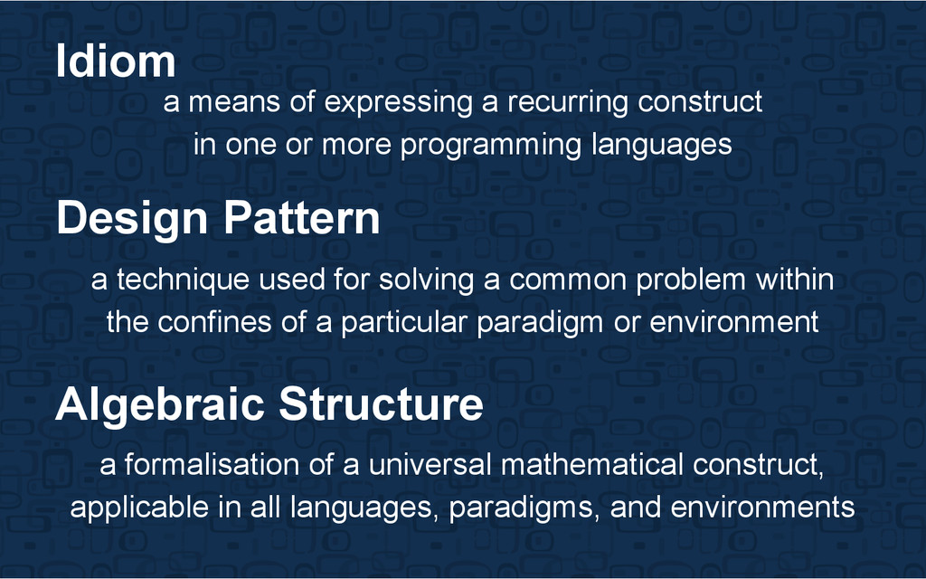 a means of expressing a recurring construct in ...