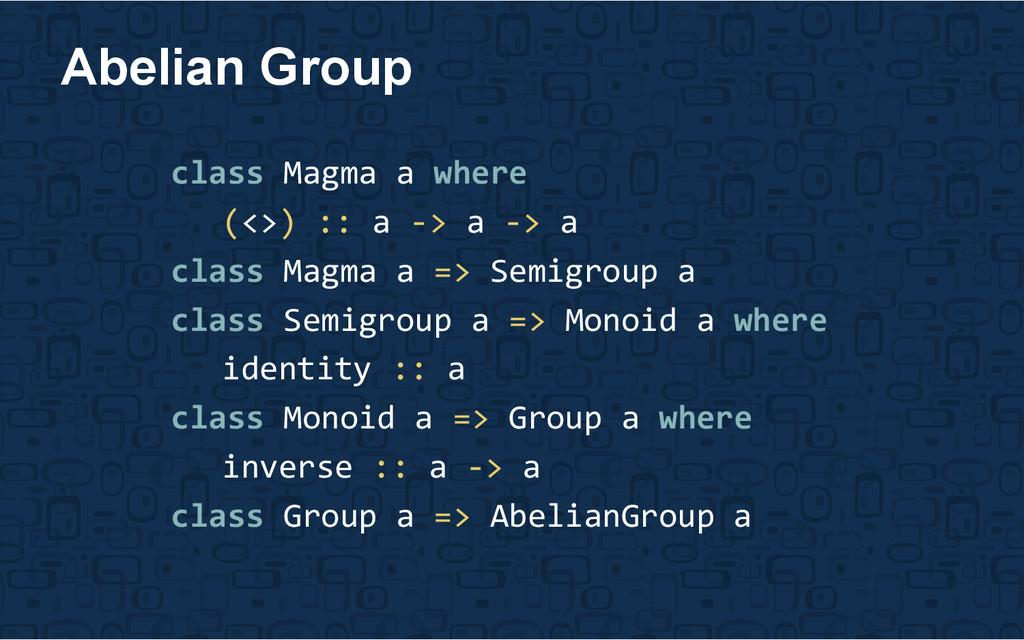 class Magma a where (<>) :: a -> a -> a class M...