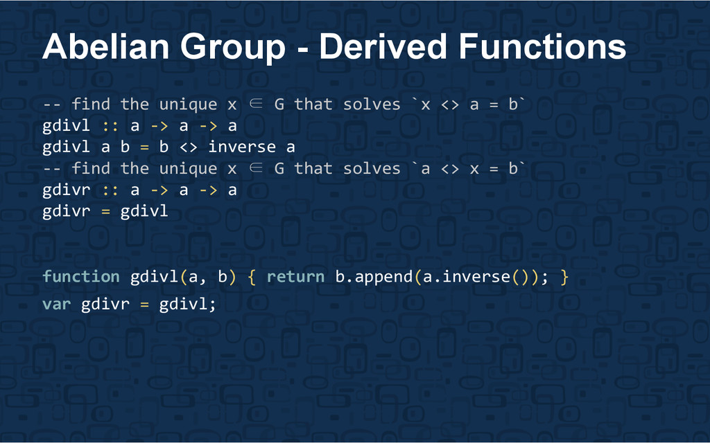 Abelian Group - Derived Functions -- find the u...