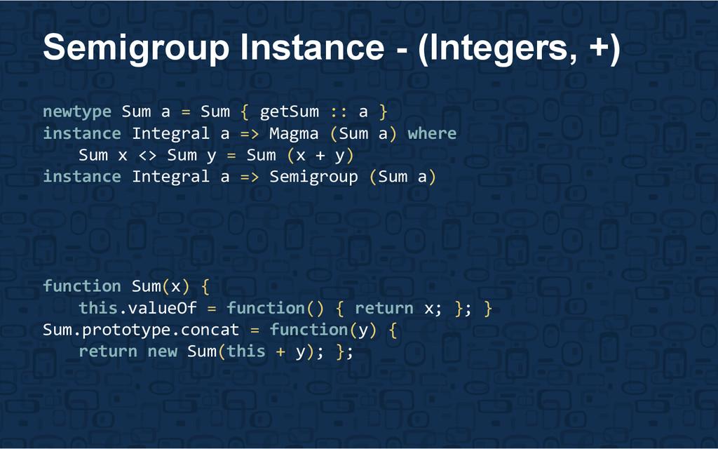 newtype Sum a = Sum { getSum :: a } instance In...