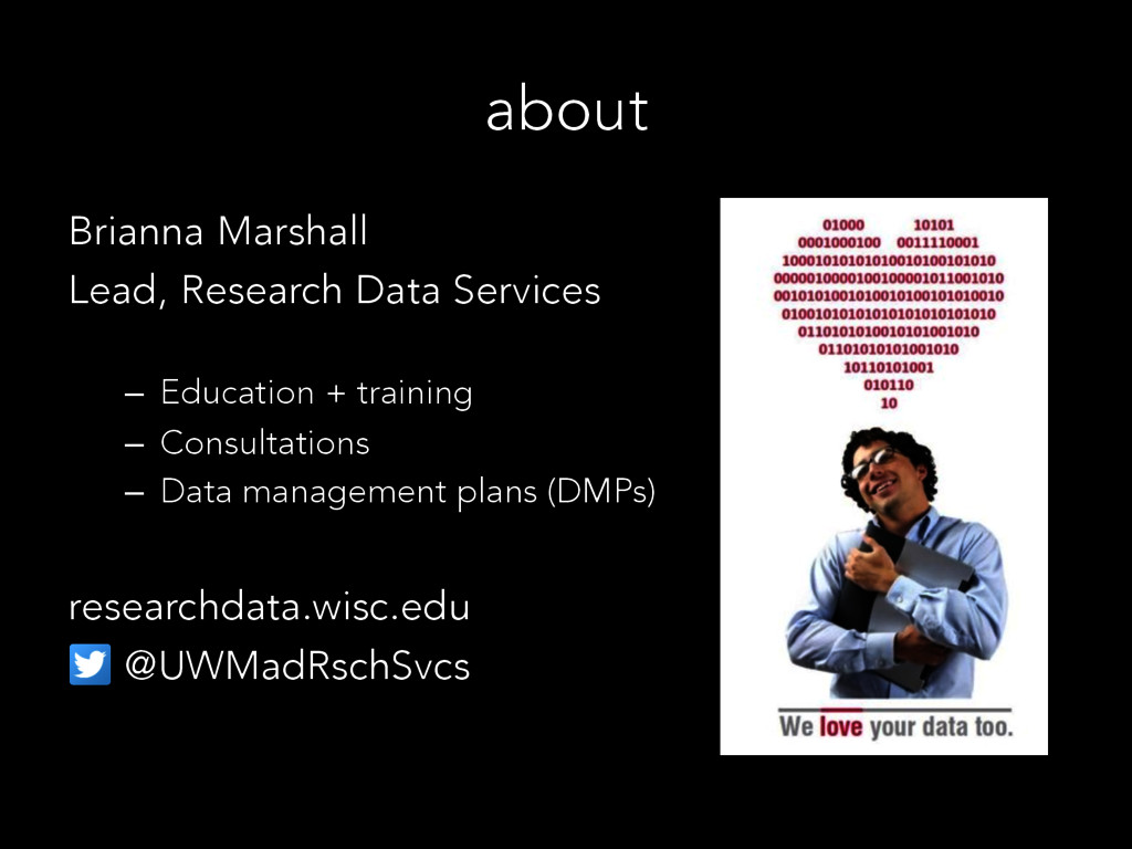 about Brianna Marshall Lead, Research Data Serv...