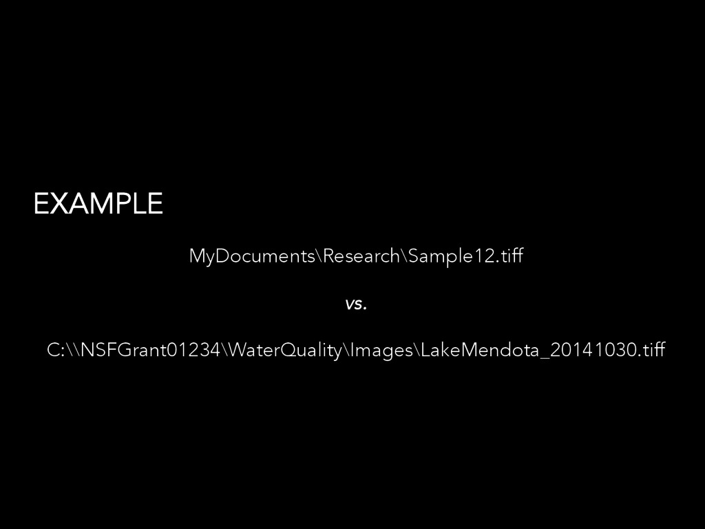 EXAMPLE MyDocuments\Research\Sample12.tiff vs. ...