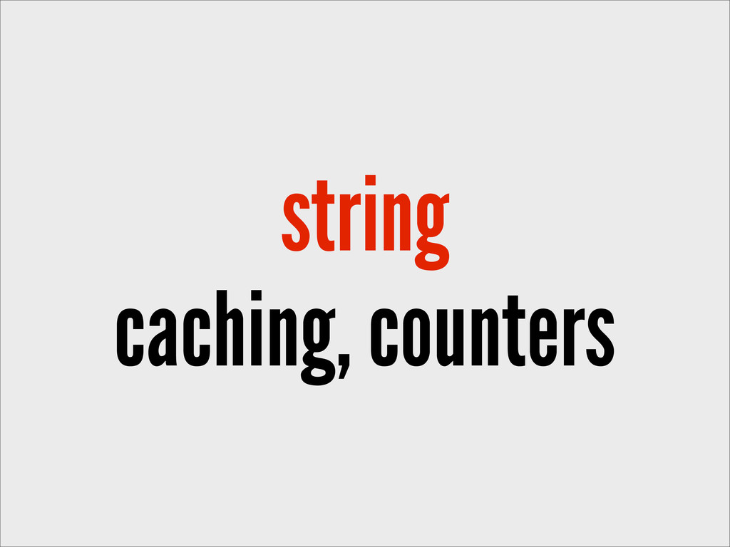 string caching, counters