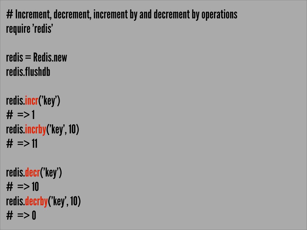 # Increment, decrement, increment by and decrem...