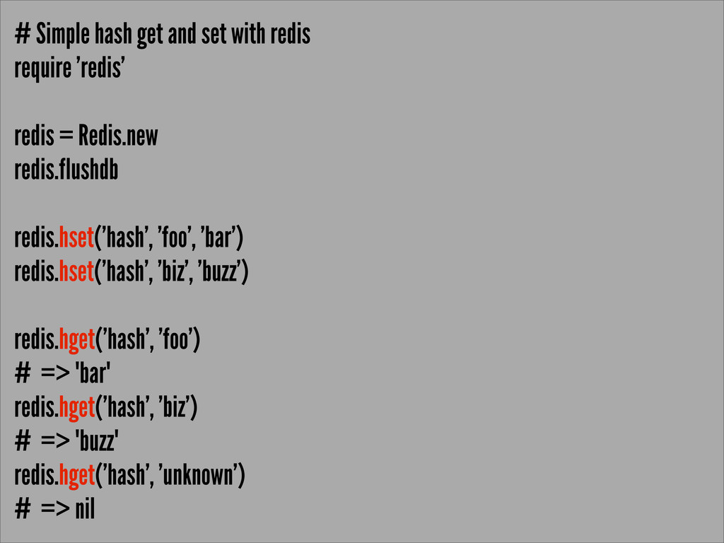 # Simple hash get and set with redis require 'r...