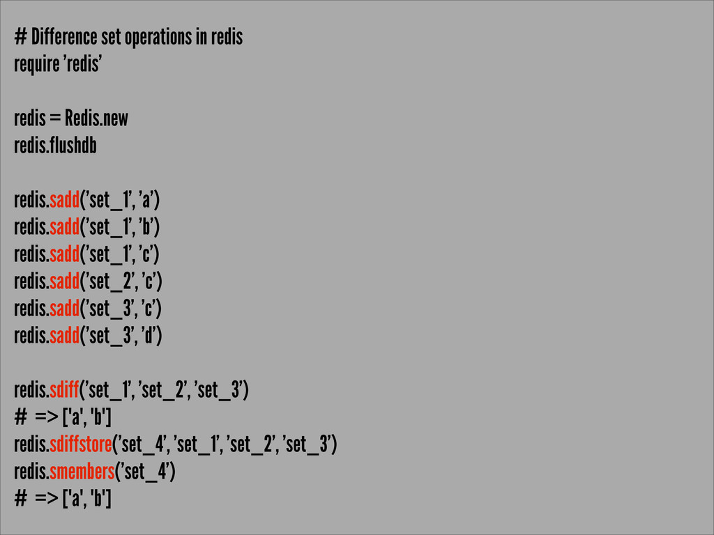 # Difference set operations in redis require 'r...