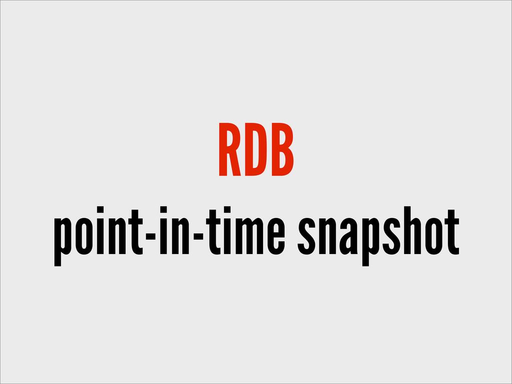 RDB point-in-time snapshot