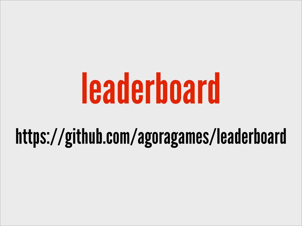 leaderboard https://github.com/agoragames/leade...