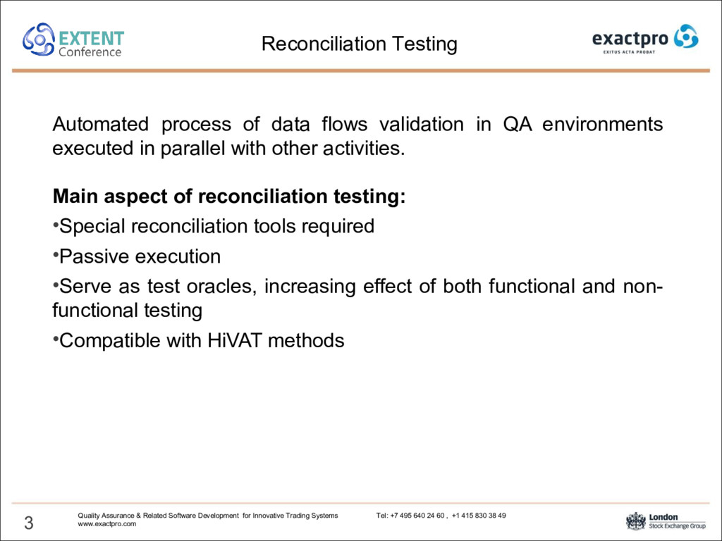 Automated process of data flows validation in Q...