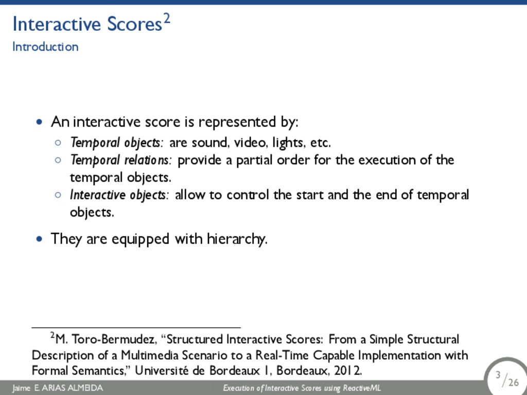 . Interactive Scores2 Introduction • An interac...