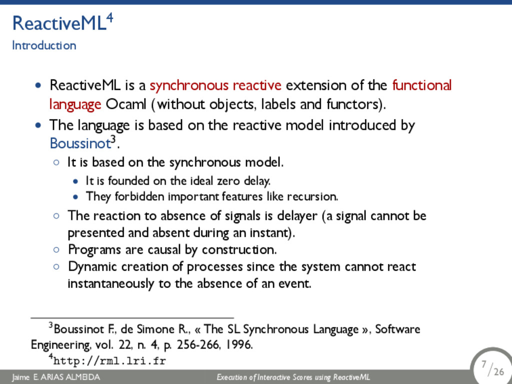 . ReactiveML4 Introduction • ReactiveML is a sy...