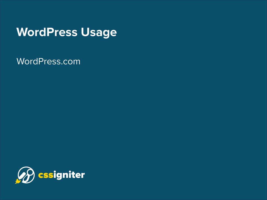 WordPress Usage WordPress.com