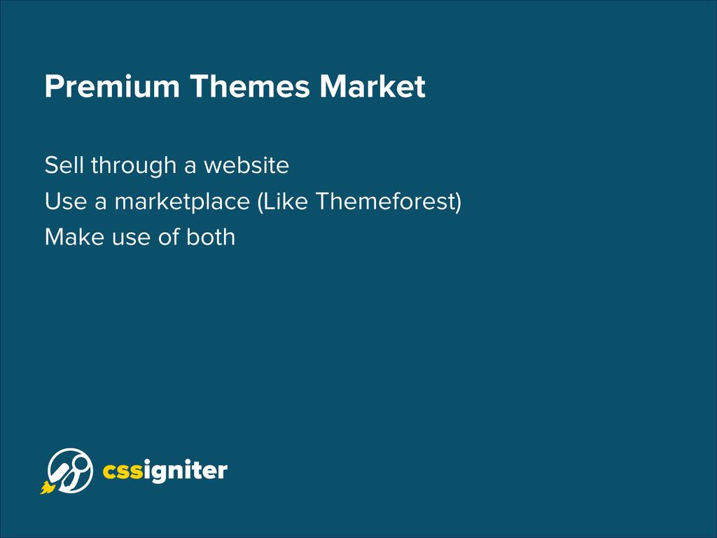 Premium Themes Market Sell through a website Us...