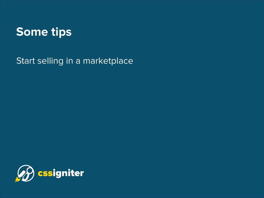 Some tips Start selling in a marketplace