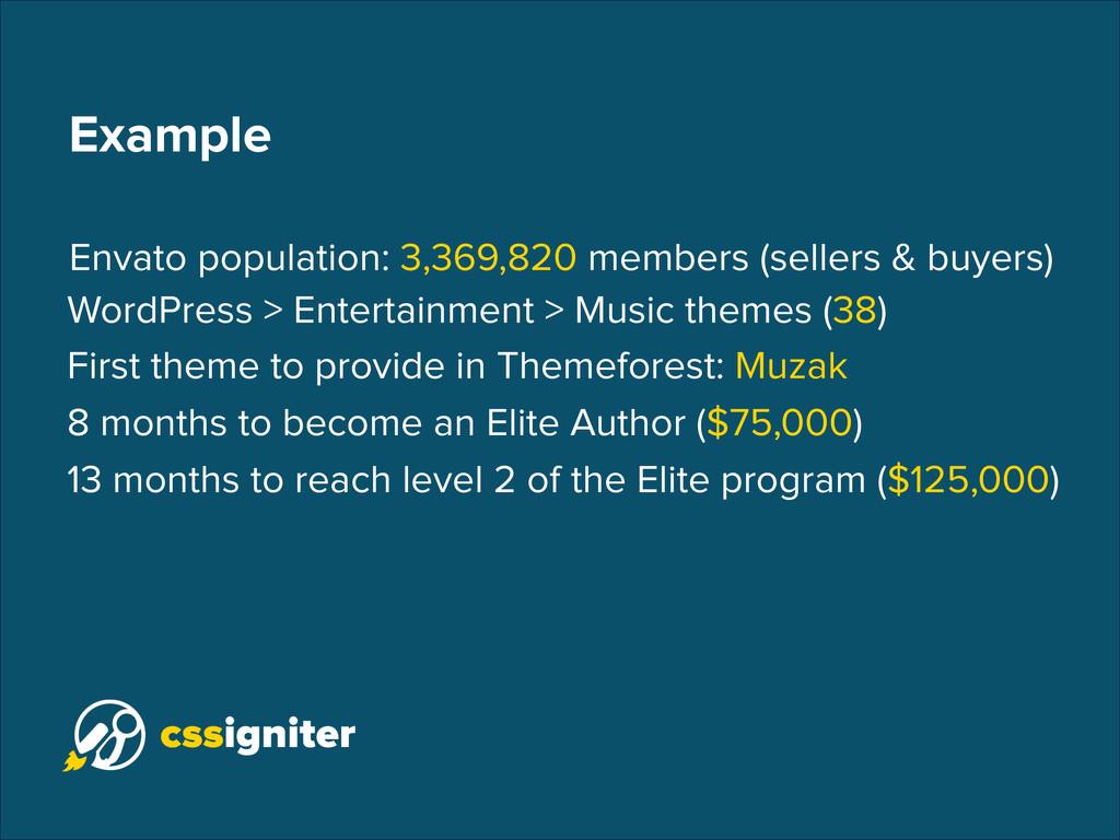 Example Envato population: 3,369,820 members (s...