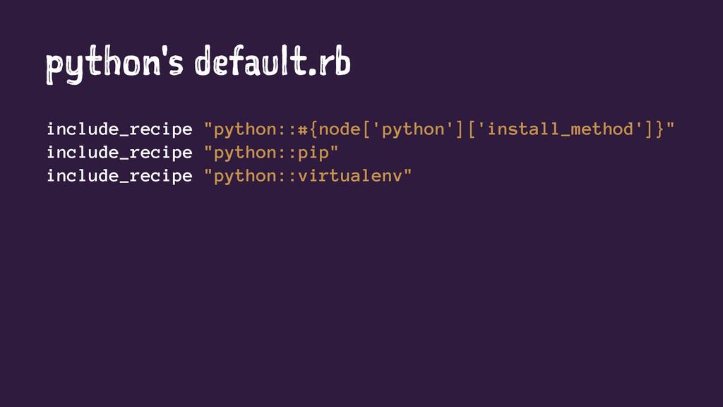 "python's default.rb include_recipe ""python::#{n..."
