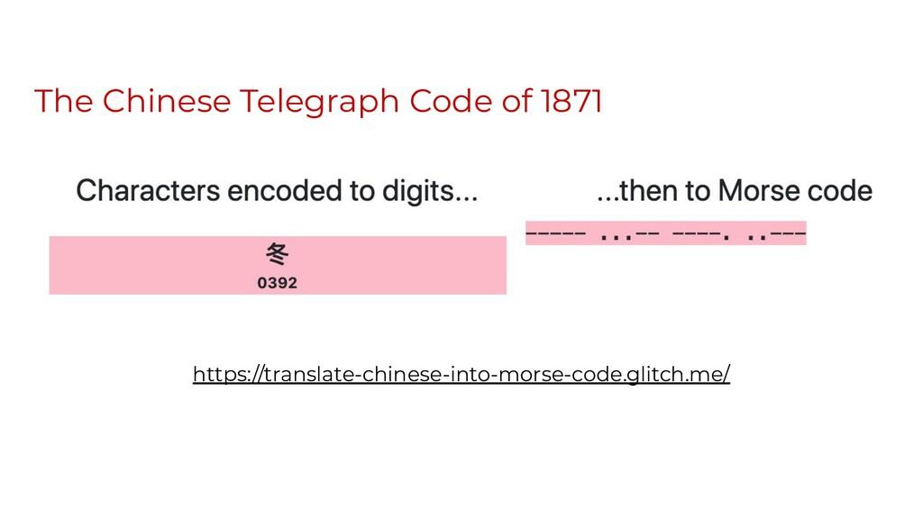 The Chinese Telegraph Code of 1871 https://tran...