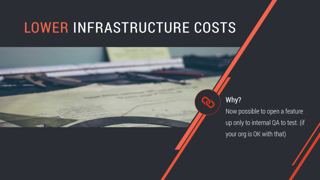 LOWER INFRASTRUCTURE COSTS Now possible to open...