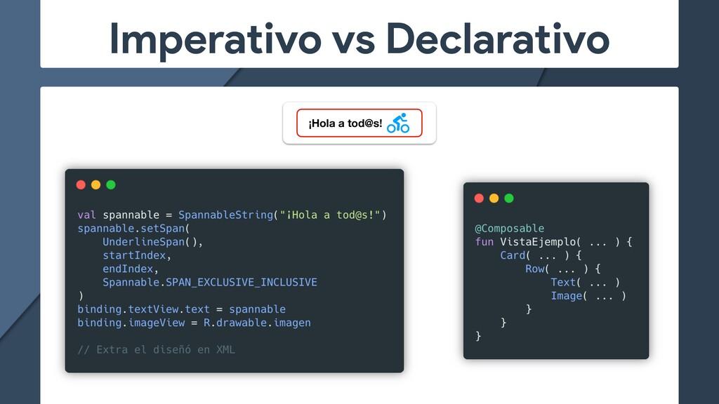 Imperativo vs Declarativo ¡Hola a tod@s!