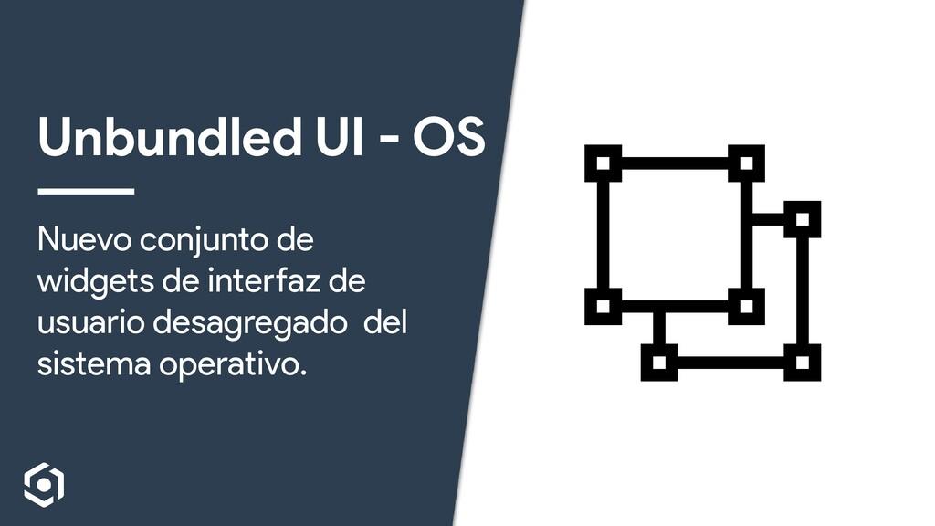 Unbundled UI - OS Nuevo conjunto de widgets de ...