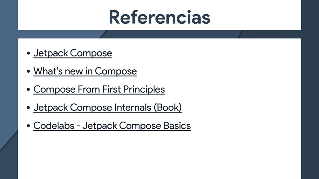 Referencias • Jetpack Compose   • What's new in...