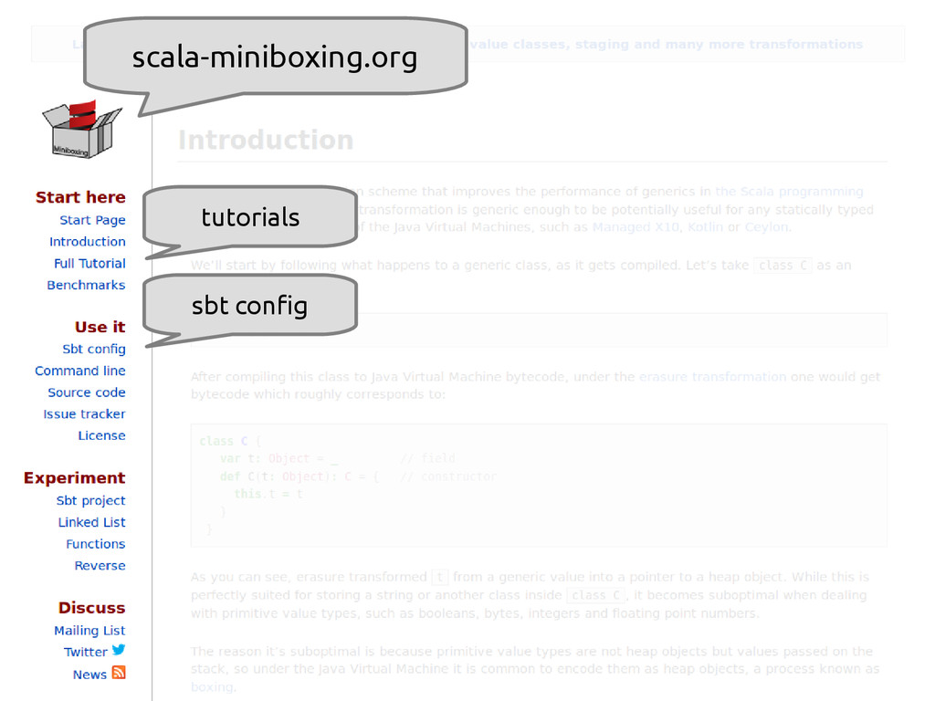 scala-miniboxing.org @miniboxing scala-miniboxi...