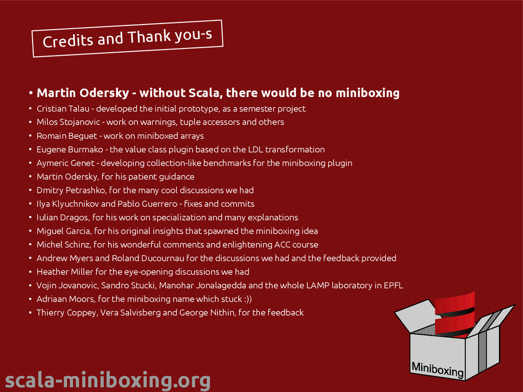 scala-miniboxing.org @miniboxing Credits and Th...