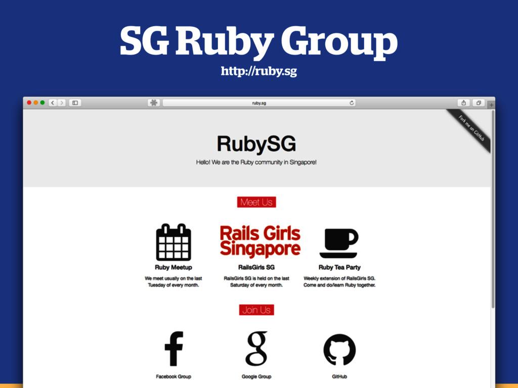 SG Ruby Group http://ruby.sg