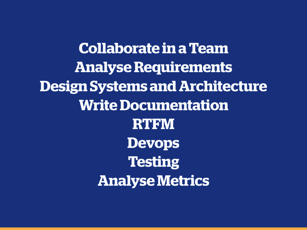 Collaborate in a Team Analyse Requirements Desi...