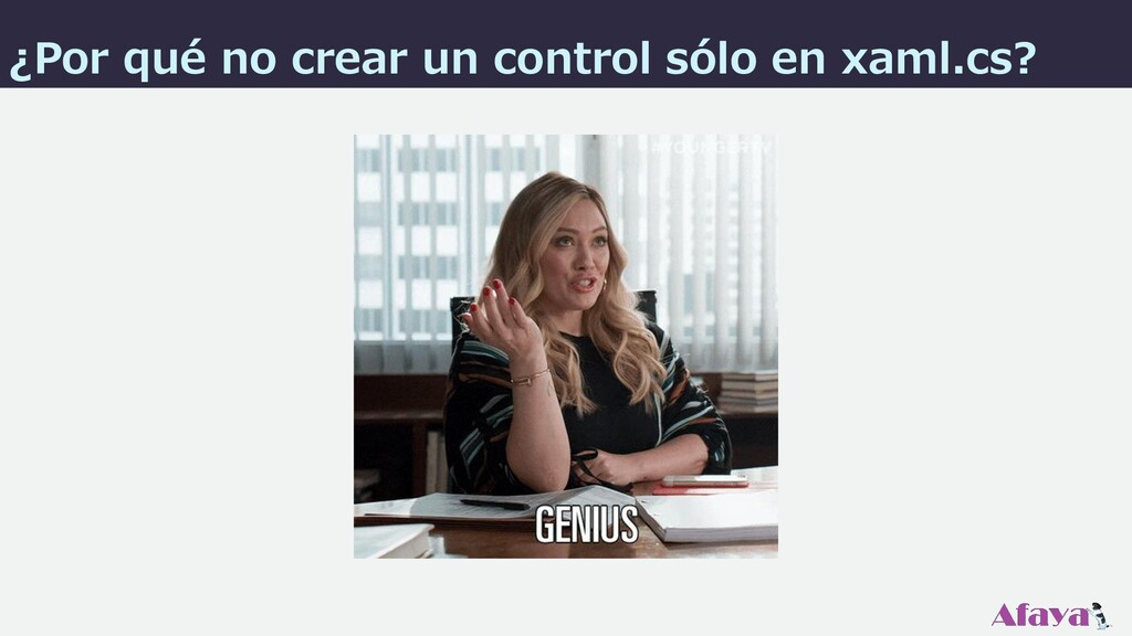 ¿Por qué no crear un control sólo en xaml.cs?