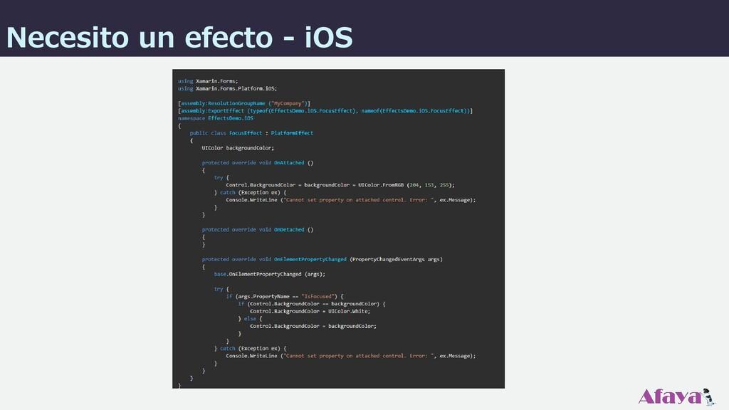 Necesito un efecto - iOS