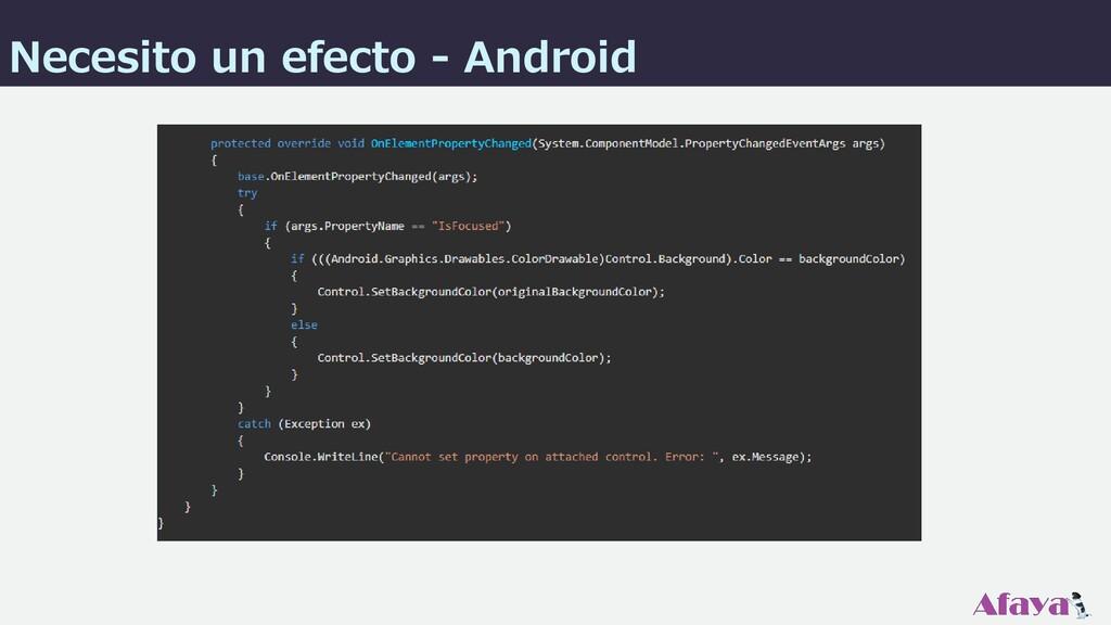 Necesito un efecto - Android