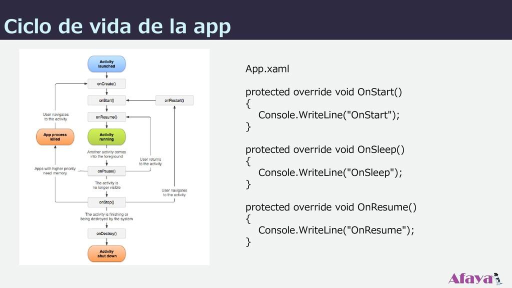 App.xaml protected override void OnStart() { Co...