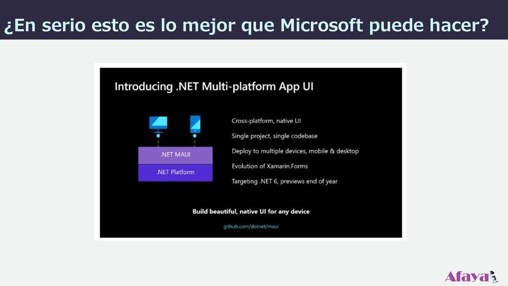 ¿En serio esto es lo mejor que Microsoft puede ...