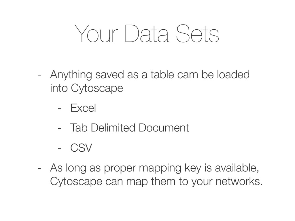 Your Data Sets - Anything saved as a table cam ...