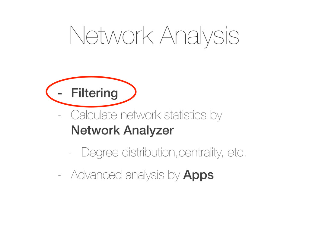 Network Analysis - Filtering - Calculate networ...